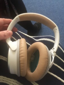 These headphones allow a person to only hear the conversation of a person who is talking whilst blocking out all the background noise.