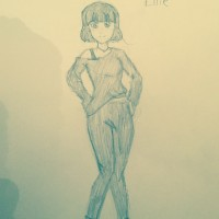 A drawing of Ellie by Alice Lowery.